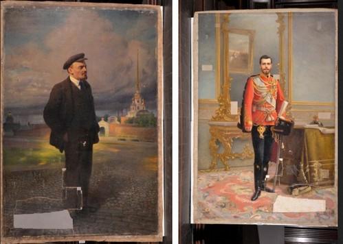 Возвращение к истинным образам: Портрет святого Царя-мученика Николая II чудом обнаружили под изображением злодея Ленина (+ВИДЕО)