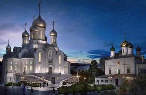 Увековечение Новомучеников и Исповедников в центре столицы: В марте на Лубянке освятят храм, который строится к столетию революции