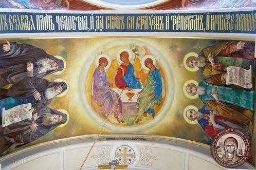 Обновленный собор Старого Русика: Беседа с художником В. Нестеренко, расписавшем русский храм на Афоне